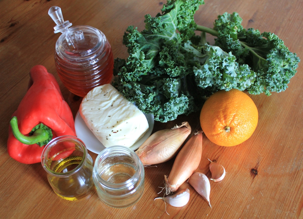 kale-halloumi-ingredients
