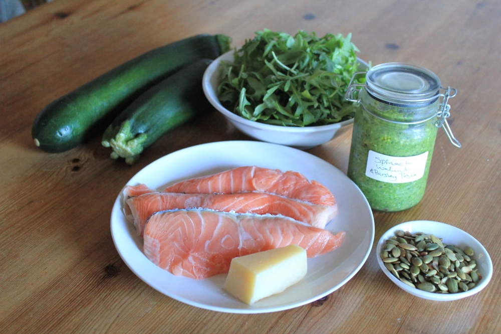 salmon-courgeti-ingredients