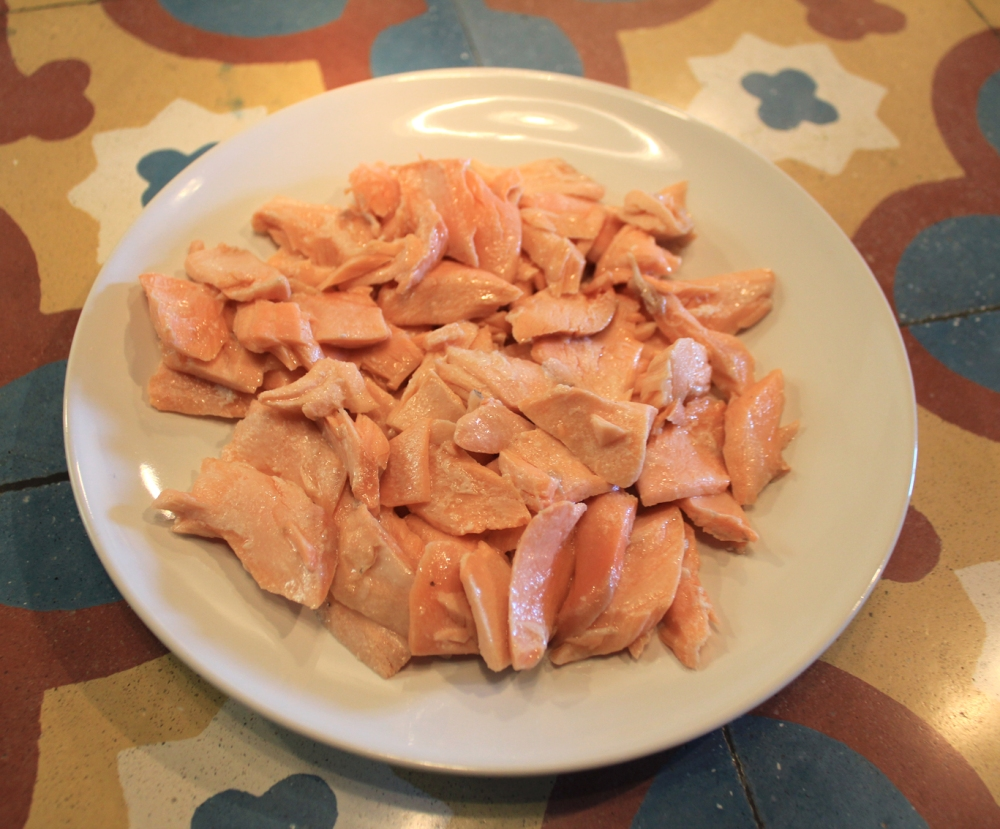 salmon-flaked